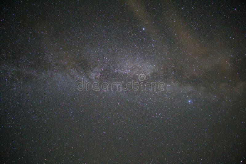 Slechts milkyway met sterren, voor achtergronden worden gebruikt die stock afbeeldingen