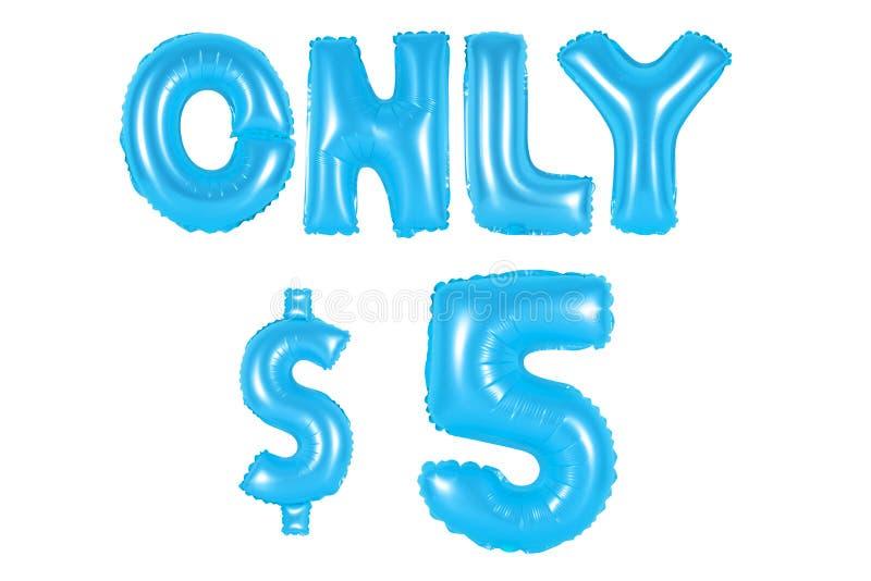 Slechts vijf dollars, blauwe kleur royalty-vrije stock fotografie