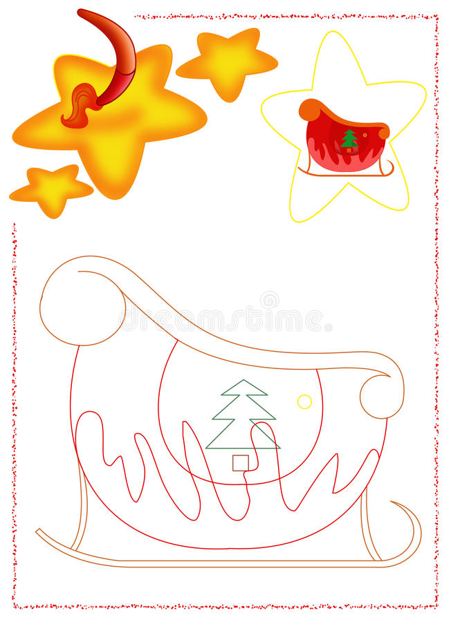 Download Sled coloring stock illustration. Image of object, color - 28264972