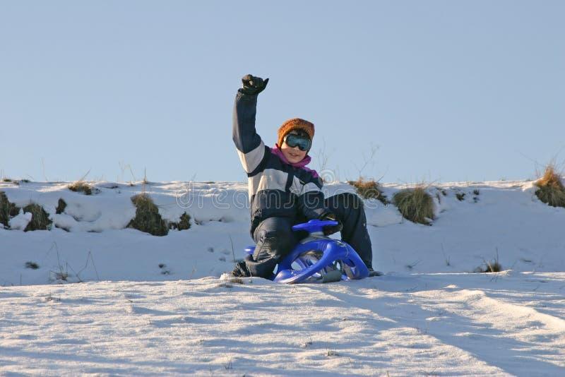 sledding zdjęcie royalty free