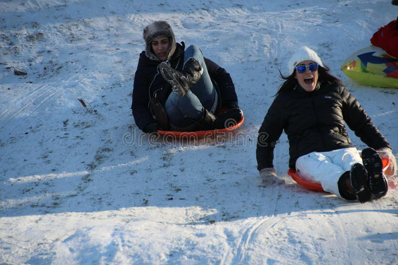 Download Sledding in Central Park editorial image. Image of playful - 29143795