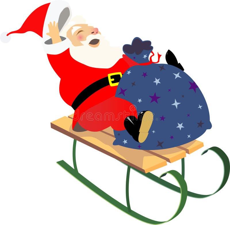 Download Sledding santa stock vector. Illustration of cheerful - 11567649