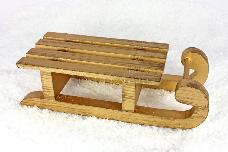 Sledge in the snow stock photo