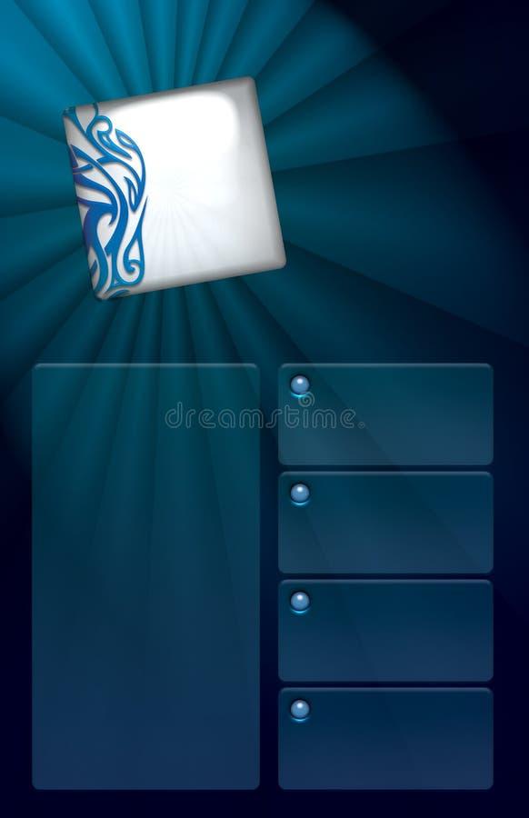 Download Sleek Burst flyer template stock illustration. Illustration of corporate - 9948846