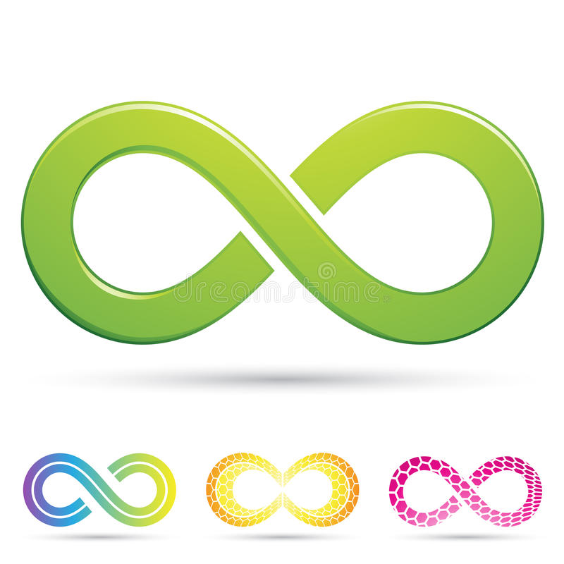 Sleek infinity symbols royalty free illustration