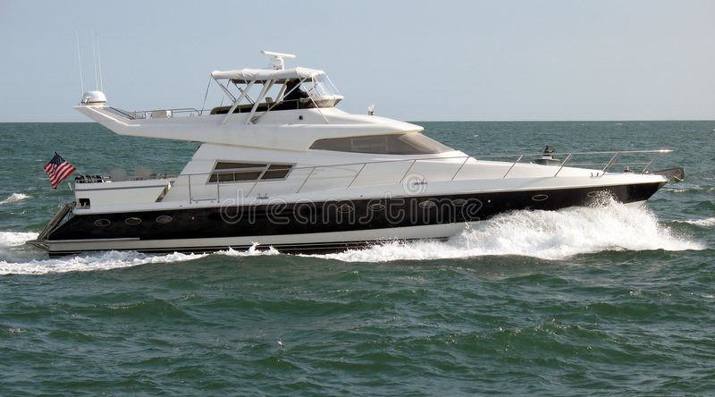 Sleek Yacht stock image