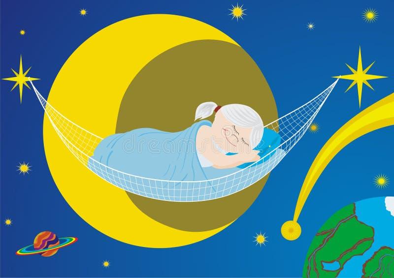 Download Sleep stock vector. Image of dark, green, blanket, part - 14040858