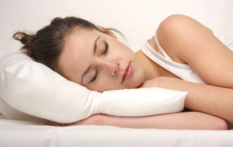 Download Sleep stock photo. Image of bedding, lying, down, beautiful - 8038456