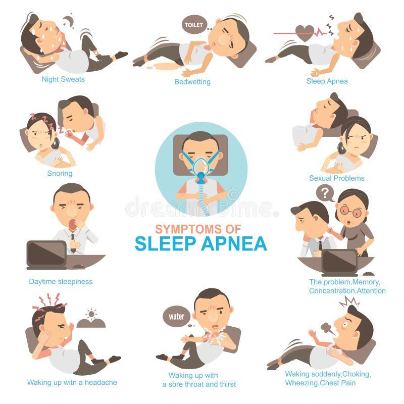Sleep Apnea stock illustration