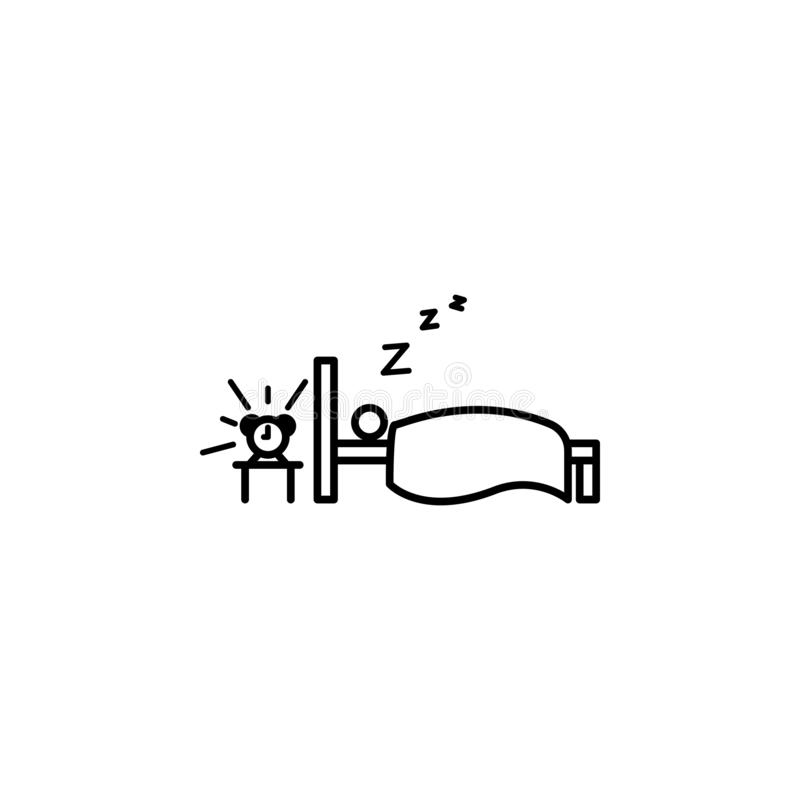 Sleep away outline icon. Element of lazy person icon for mobile concept and web apps. Thin line icon sleep away can be used for we. B and mobile on white vector illustration