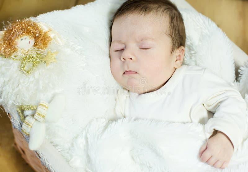 Download Sleep of baby stock image. Image of dream, happy, surprise - 30539335
