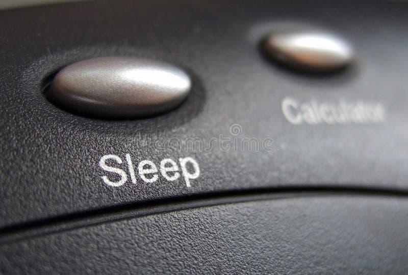 Sleep button stock photos