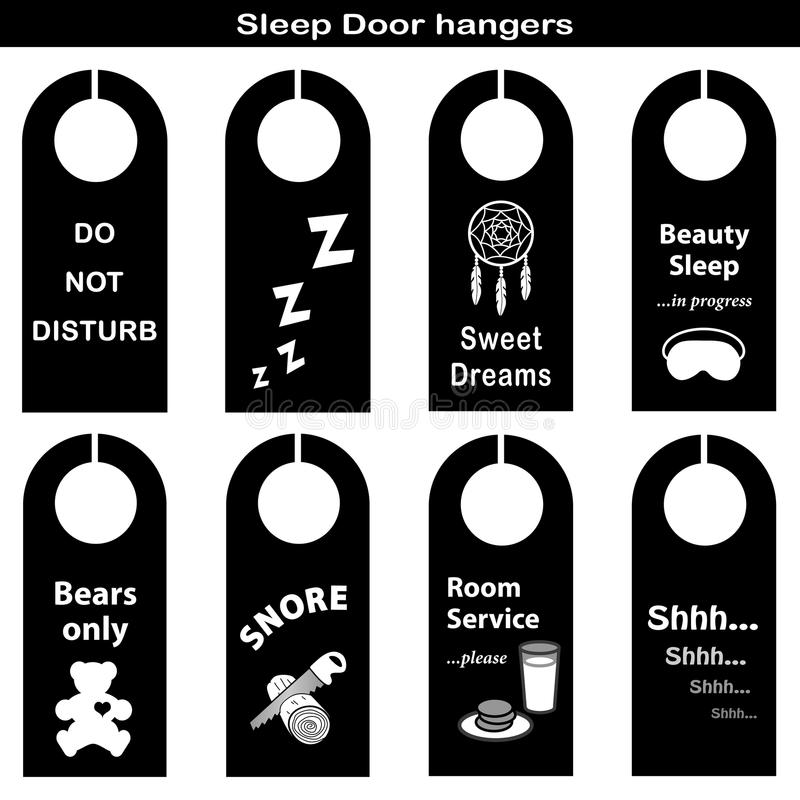 Free Sleep Door Hangers Royalty Free Stock Photo - 22620245