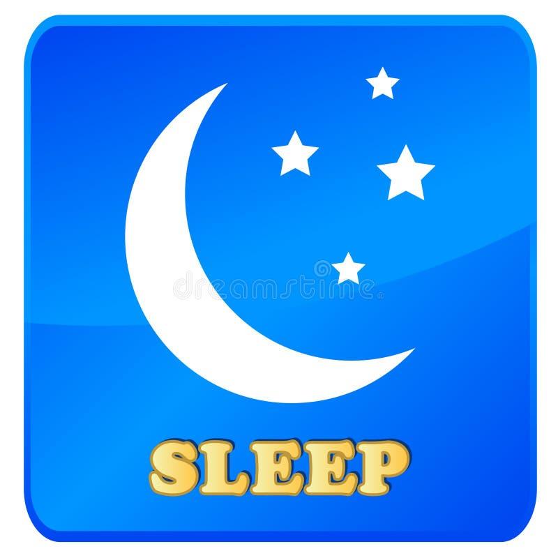Sleep Icon Stock Photo
