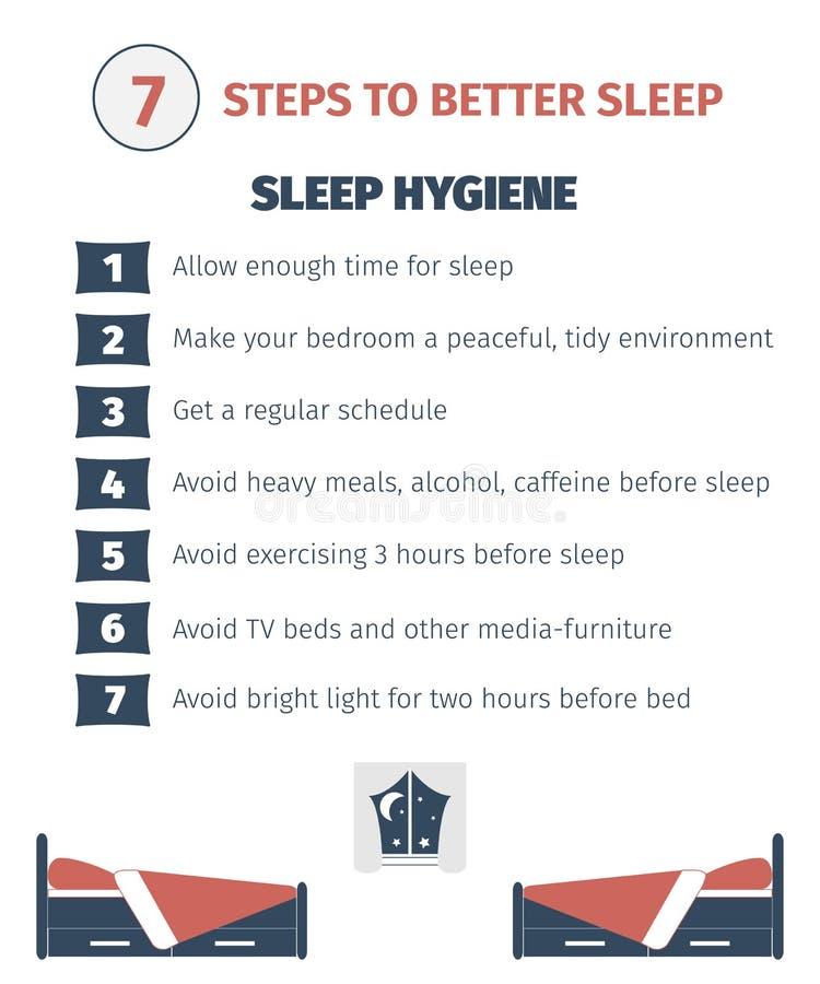 Sleep infographic royalty free illustration