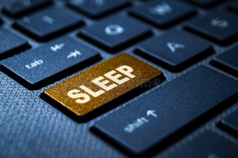 Sleep keyword on keyboard stock images