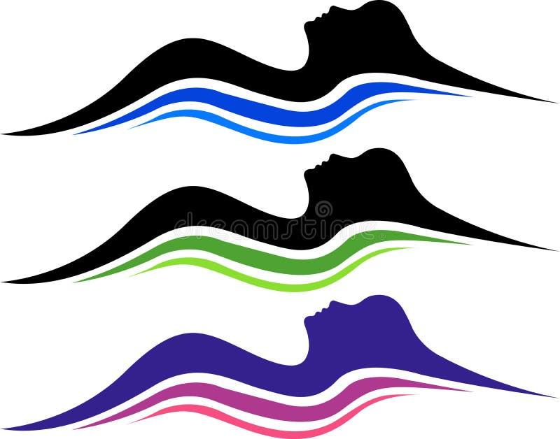 Sleep logo. Illustration art of a sleep logo with isolated background
