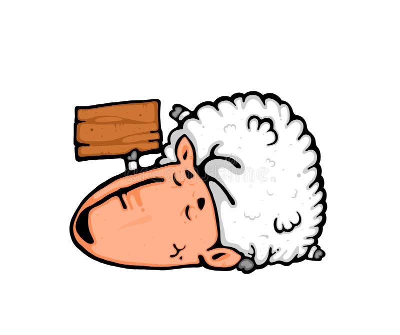 Download Sleep & Sheep stock illustration. Image of dream, card - 10588034