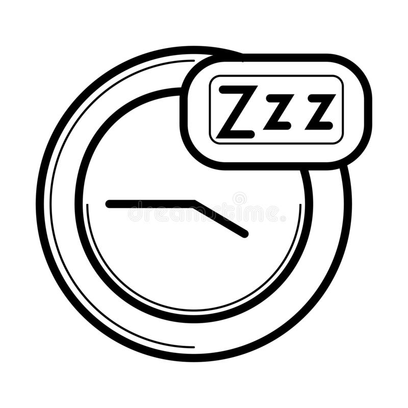 Sleep Time icon royalty free illustration
