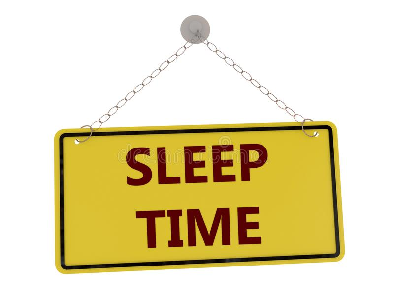 Sleep time sign stock illustration