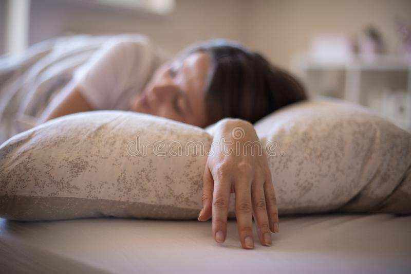 Sleep well. It's good for your health royalty free stock photo