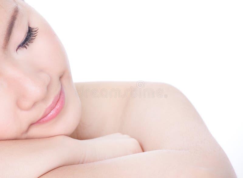 Download Sleep Woman Close Up Portrait  (half Face) Stock Photo - Image: 24224122