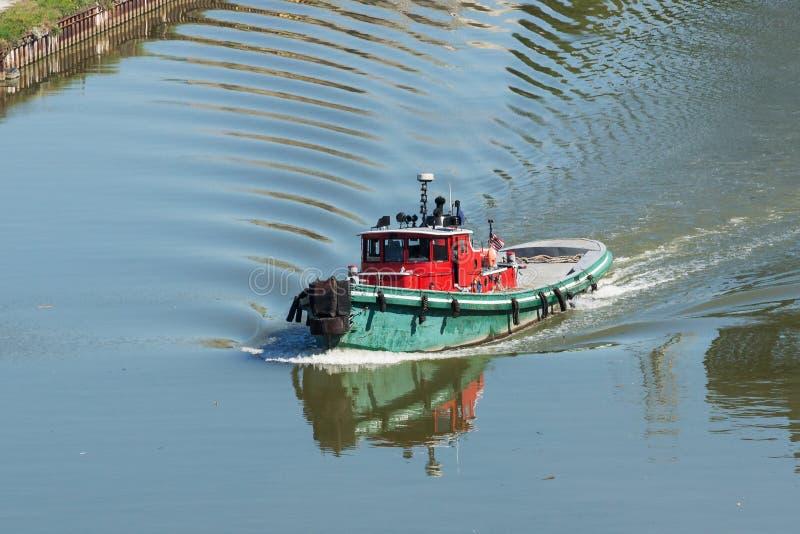 Sleepboot op Cuyahoga royalty-vrije stock fotografie