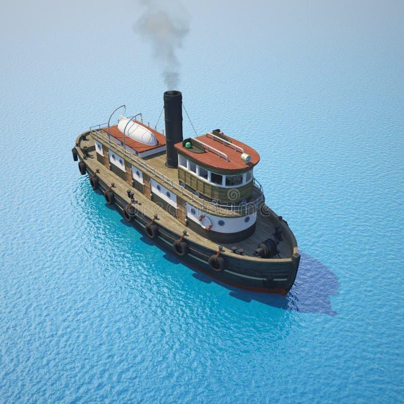 Sleepboot op het water royalty-vrije stock foto's