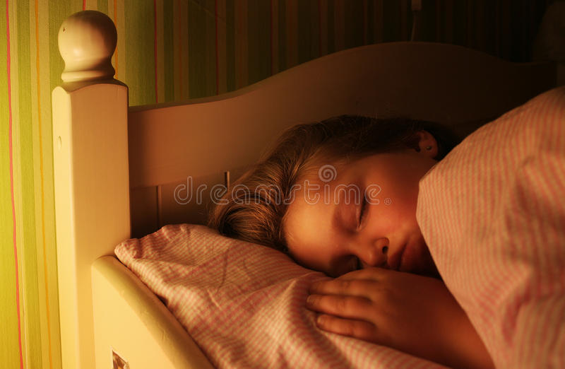 Sleeping stock image