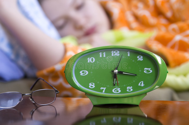 Download Sleeping stock photo. Image of clock, reflection, young - 1778570