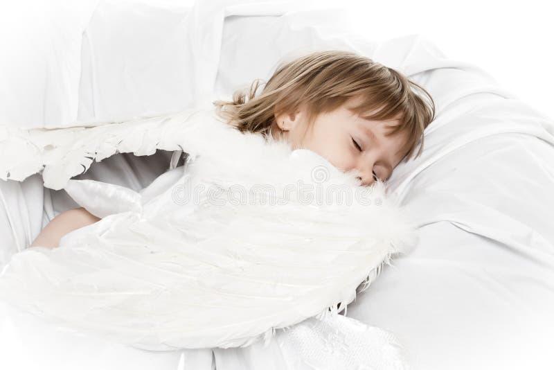 Sleeping angel stock photo