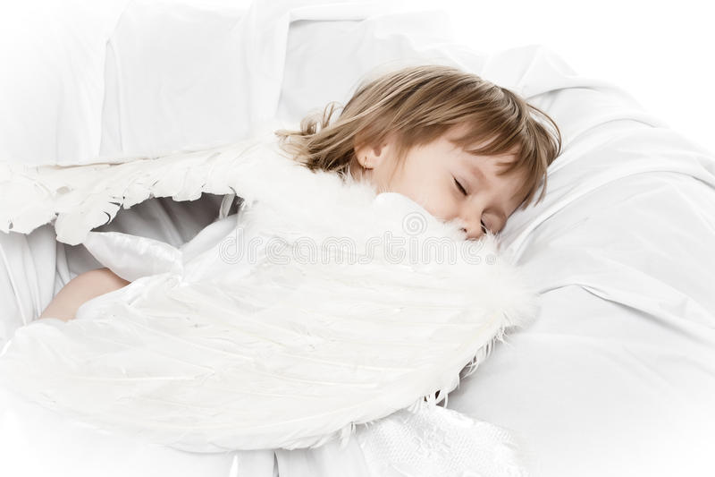 Download Sleeping angel stock photo. Image of smile, pretty, childhood - 13225050