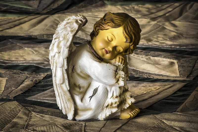 Sleeping angel royalty free stock image