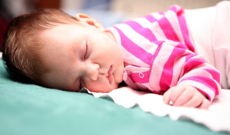 Sleeping baby 03 stock photo