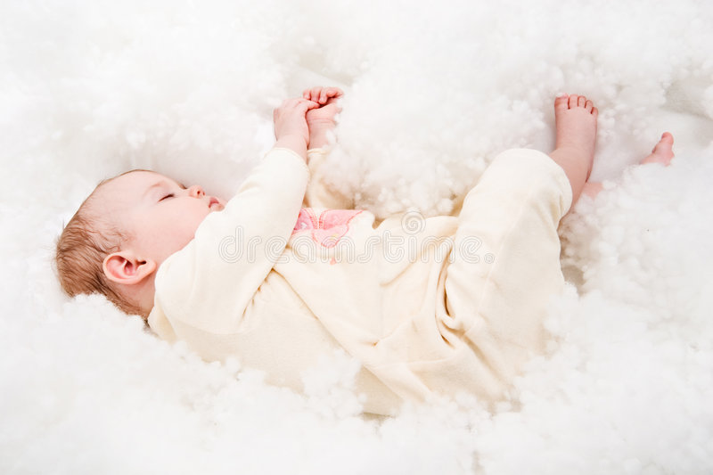 Download Sleeping baby stock image. Image of blanket, blond, small - 2149417