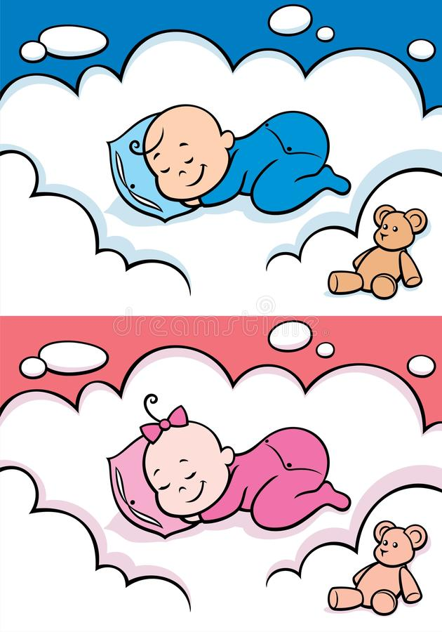 Sleeping Baby vector illustration