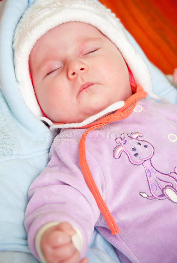 Download Sleeping baby girl stock photo. Image of content, eyes - 13526526