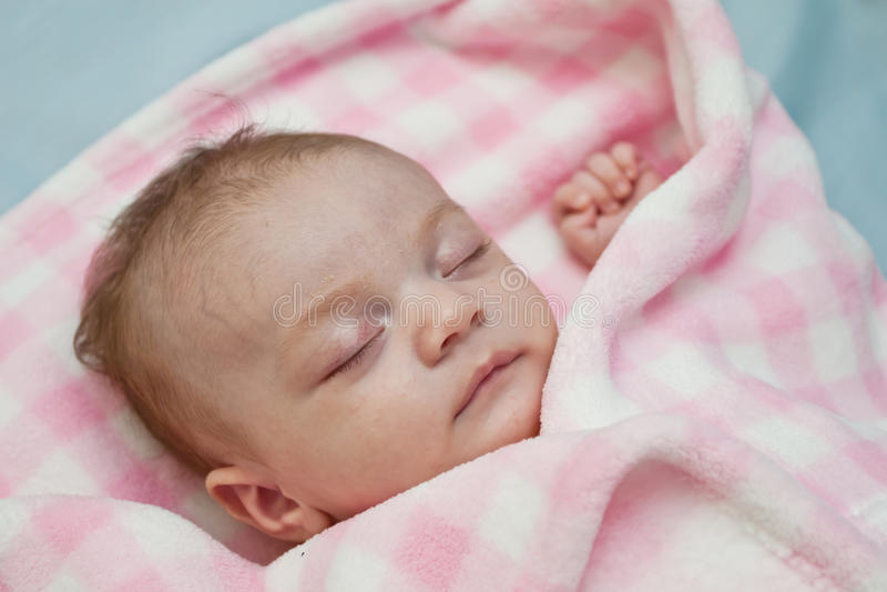 Download Sleeping Baby Girl stock photo. Image of colour, blanket - 20804664