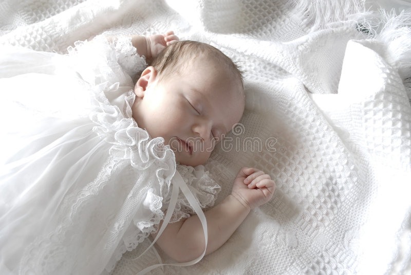 Download Sleeping Baby Girl Royalty Free Stock Images - Image: 4796269