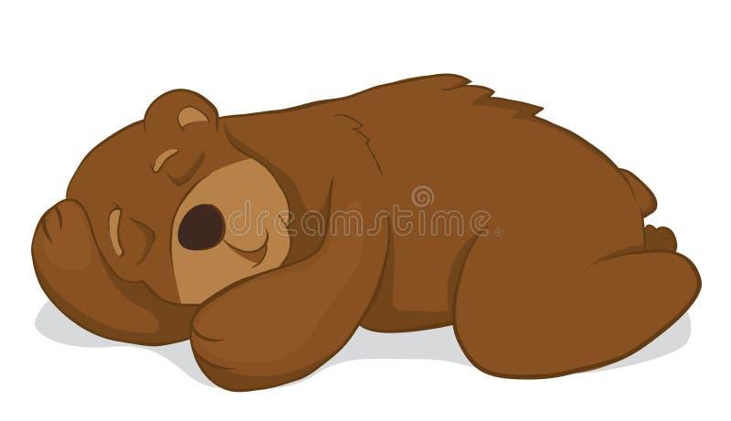 sleeping bear stock vector illustration of wildlife 17666393 rh dreamstime com Sleeping Bear Coloring Sheet sleeping bear clipart black and white