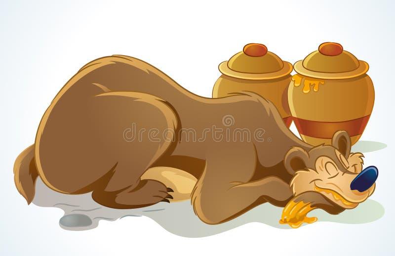 Download Sleeping Bear stock vector. Illustration of happy, illustration - 21508283