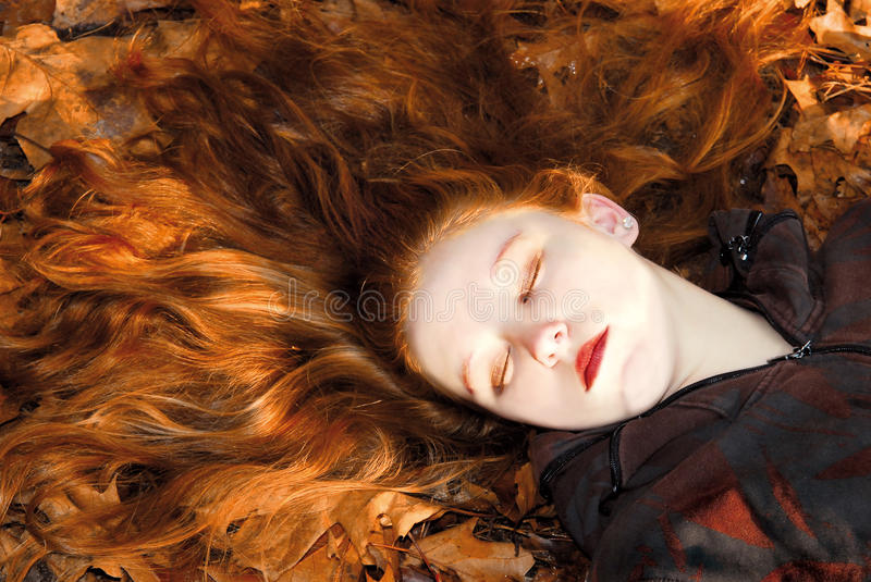 Sleeping beauty royalty free stock photos