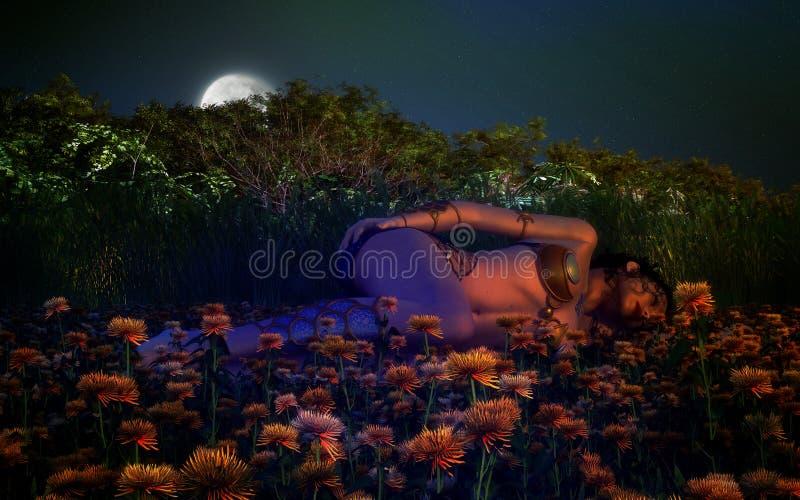 Download Sleeping Beauty stock illustration. Image of women, garden - 26625387