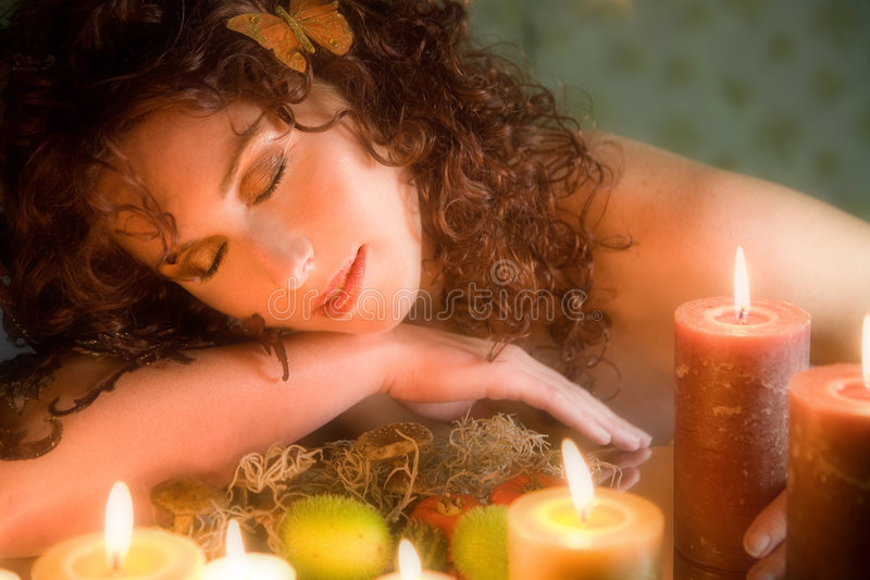 Sleeping beauty stock photos