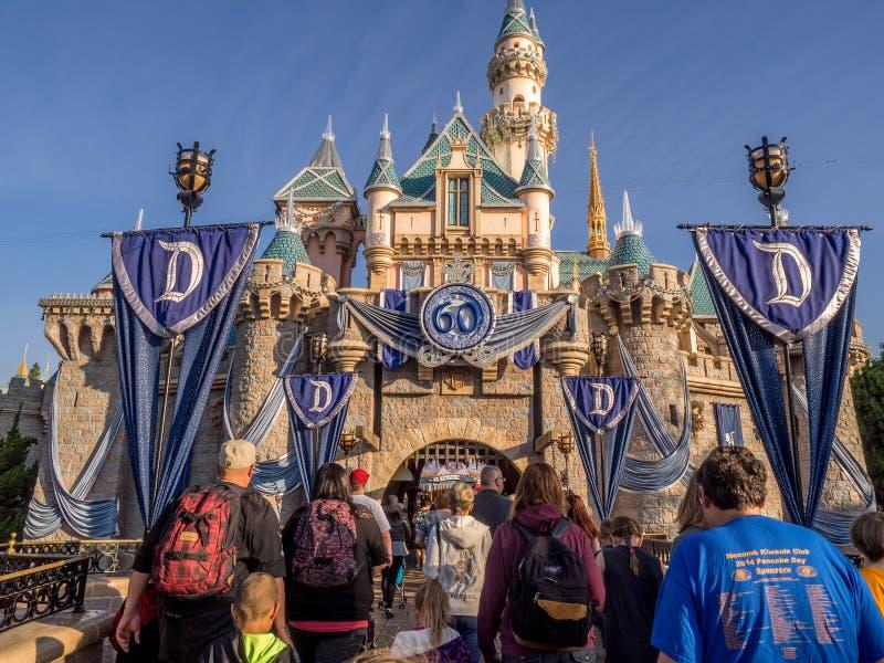 Sleeping Beauty Castle at Disneyland Park stock image
