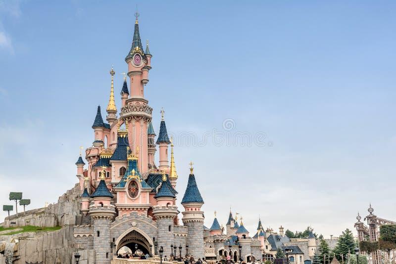 Sleeping Beauty Castle in Disneyland park in Marne La Vallee France. Disneyland Paris royalty free stock photo