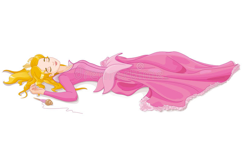 Sleeping Beauty vector illustration