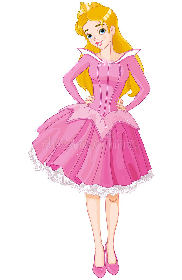 Sleeping Beauty royalty free illustration