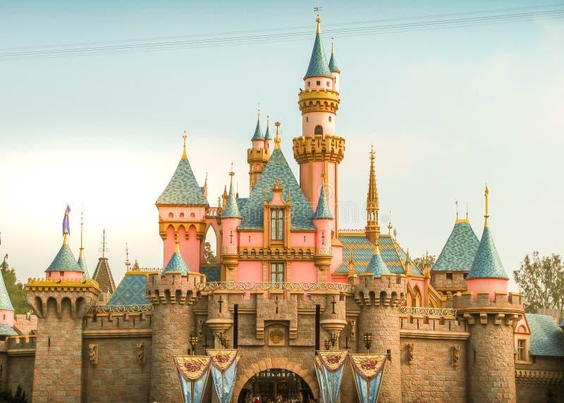 Sleeping Beauty`s Castle at Disneyland Anaheim royalty free stock photos