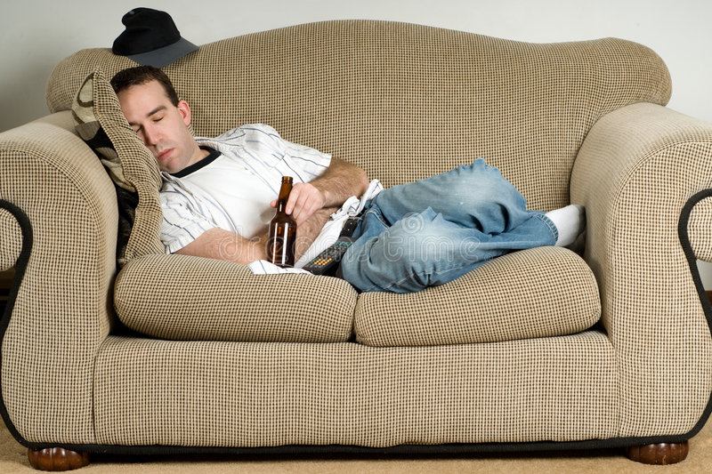 Download Sleeping With Beer stock photo. Image of person, relax - 8710200
